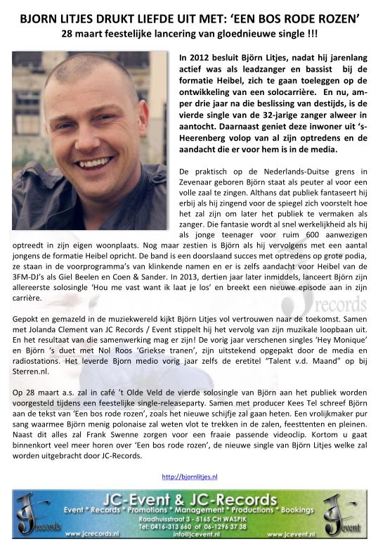150306 Bjorn Litjes vooraankondiging single (nog factureren)