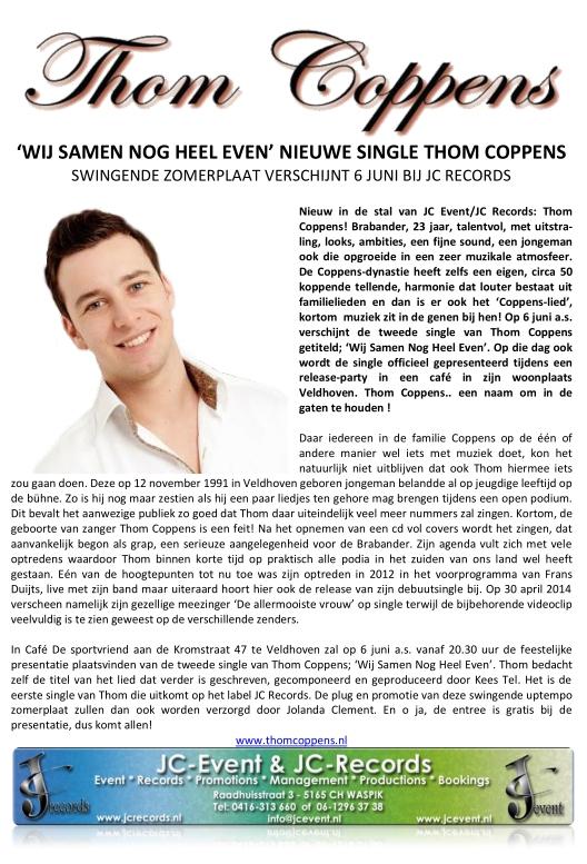 Thom Coppens - Wij samen nog heel even (aank)