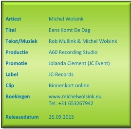 Michel Wolsink -persbericht